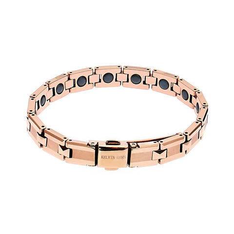 AJ Luxury Rose Gold Healthcare Magnetic Bead Tungsten Bracelet