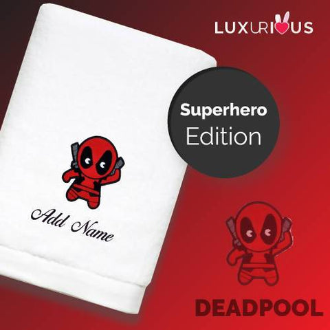 Personalised Towel | Superhero Deadpool