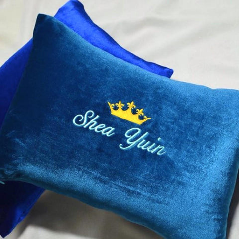 Personalised Velvet Pillow (With Icon)