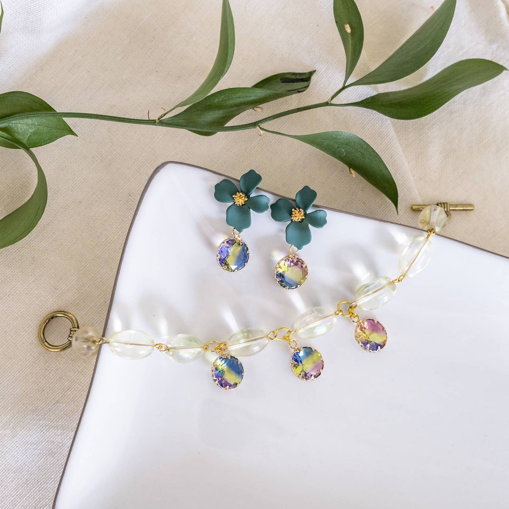 Rainbow Set (Bracelet and Earring) (4-10 working days)