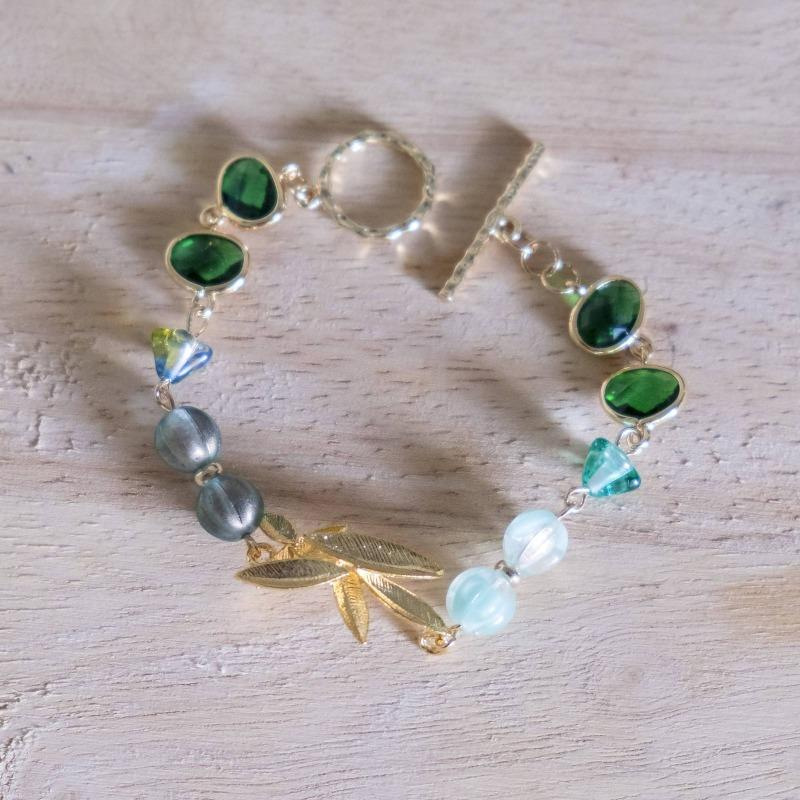 Emerald Series Handmade Gold Bracelet #1 (4-10 working days)