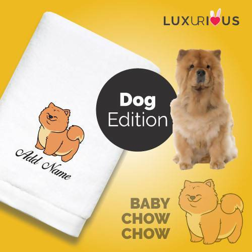 Personalised Towel Baby Chow Chow