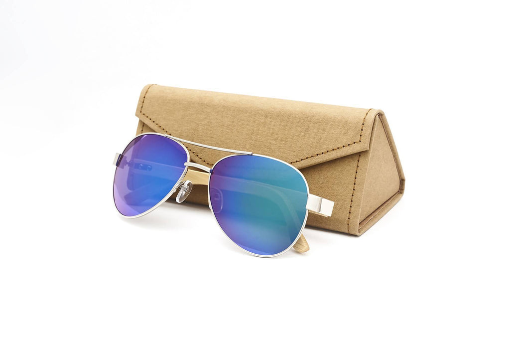 Personalised Bamboo Men Sunglasses with Name (Aviator)(6-8 working days)