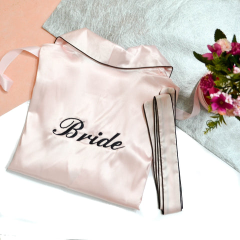 Personalised Satin Dressing Gown (Bathrobe)