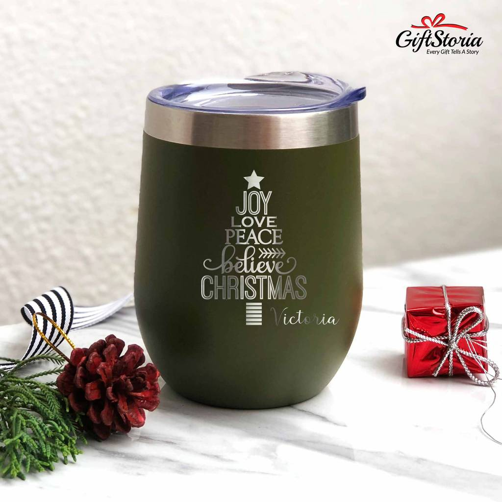 Christmas Gift - Insulated Tumbler ( Tree with Word)