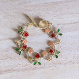 Red Yellow Gold Handmade Bracelet (4-10 working days)