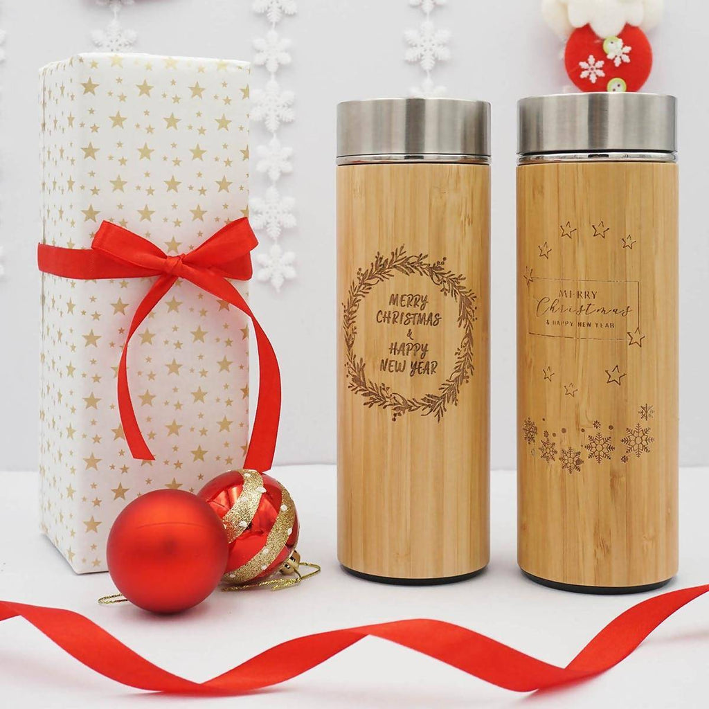 Personalized Christmas  Stainless Steel Thermal Flask With Wordings (Est. 6-8 working days)