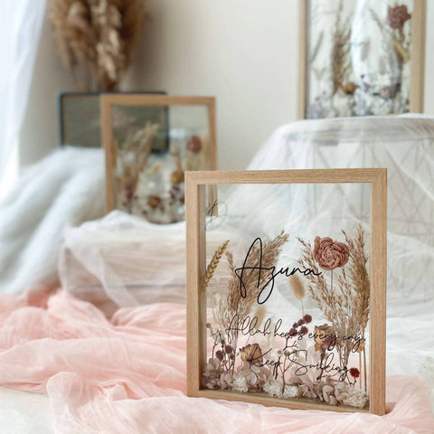 Corinne Preserved & Dried Flower Frame (Nationwide Delivery)