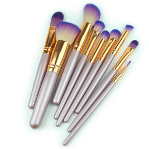 Purple Makeup Brushes Set