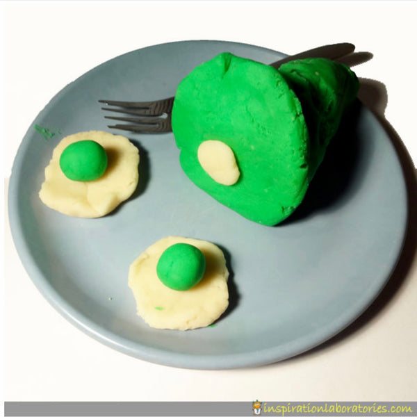Green Eggs and Ham Pretend Activity Inspired by Dr. Seuss
