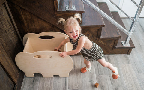 Elephant Wooden Toy Box designed by Bannor Toys and handcrafted by Little Colorado