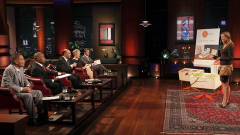Mod Mom with wooden toddler furniture on sharktank