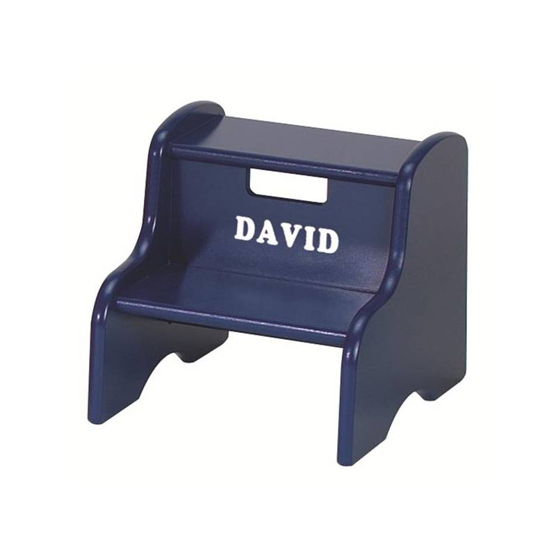 by RSW Blue One Stool Supplied Plastic 2-Step Small Sturdy Foot Step Stool