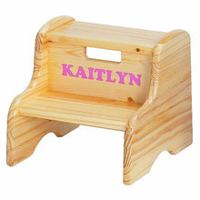 Personalized Step Stool | Natural | Step Stools | Little Colorado Toddler Furniture