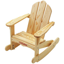 Personalized Adirondack Rocking Chair | Natural | Adirondack Furniture | Little Colorado Toddler Furniture