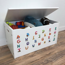 Little Prints: Toy Storage Chest | Animal Alphabet | Wooden Toy Boxes | Little Colorado Toddler Furniture