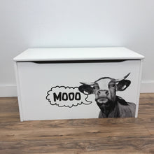 "Little Prints: ""Mooo"" Toy Storage Box"