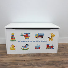 Little Prints: Toy Storage Chest | So Many Toys | Wooden Toy Boxes | Little Colorado Toddler Furniture