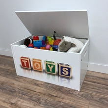 Little Prints: Toy Storage Chest | Toys Blocks | Wooden Toy Boxes | Little Colorado Toddler Furniture