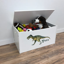 Little Prints: Toy Storage Chest | T-Rex | Wooden Toy Boxes | Little Colorado Toddler Furniture
