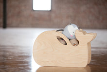 Whale Toy Box by Bannor Toys | Natural | Wooden Toy Boxes | Little Colorado Toddler Furniture