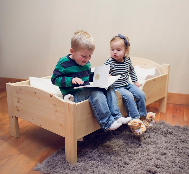 Traditional Toddler Bed | Natural | Bedroom | Little Colorado Toddler Furniture