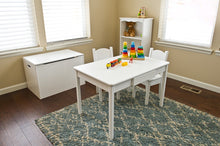 Arts & Crafts Table with Open Back Chairs | White | Table and Chair Sets | Little Colorado Toddler Furniture