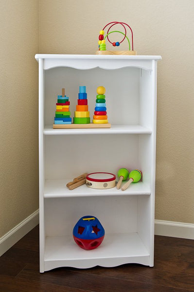 Traditional Bookcase | White | Kids Bookcase | Little Colorado Toddler Furniture