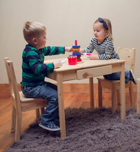 Small Arts & Crafts Table and Open Back Chairs | Natural | Kids Tables and Chairs | Little Colorado Toddler Furniture