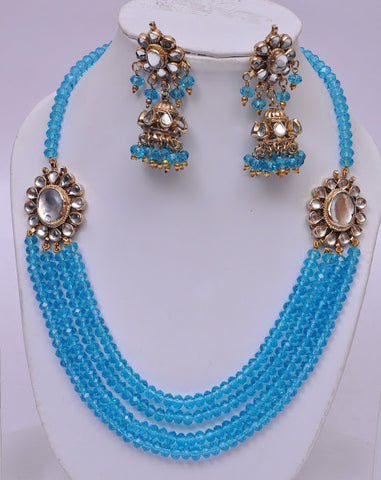 Indian Blue Necklace Set
