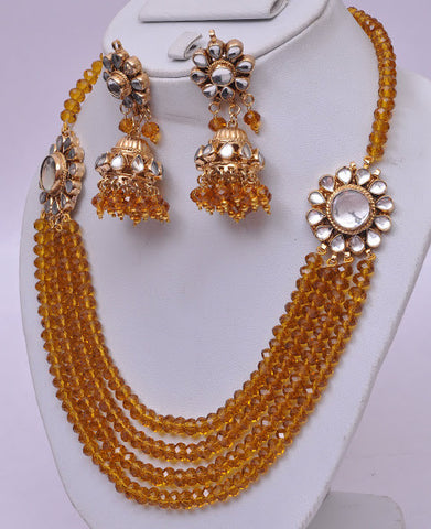 Gold Multi Layered Necklace Set