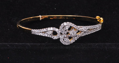 Silver Plated Diamond Bangle