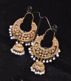 Pakistani Jhumka Earrings with Silver Base - Top Quality