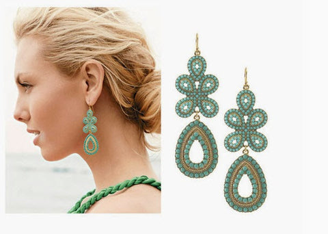 Green Tone Indian Earrings