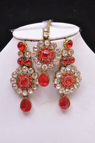 Red Emerald Tikka Set