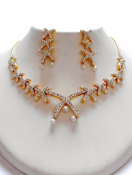 color necklace shape women rhinestone elegant vintage crystal gold item kilimall wheat choker statement one size