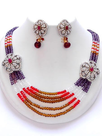 Multi-color Crystal Necklace set