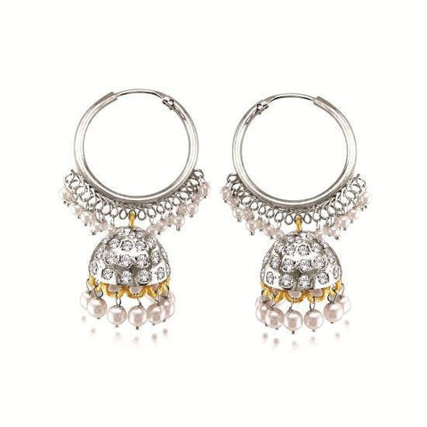 Silver Plated Indian Earrings