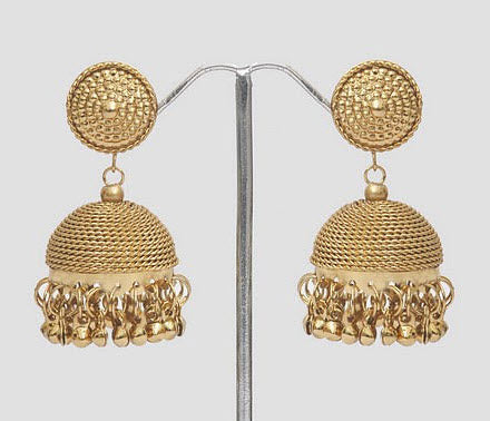 Indian Gold Plated Jhumka Earrings Traditional Jhumki Jewelry Bollywood  Earrings