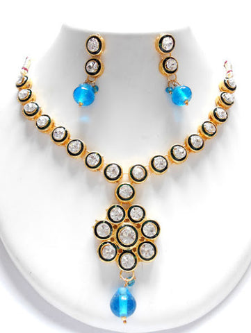 Elegant Blue Beads Necklace