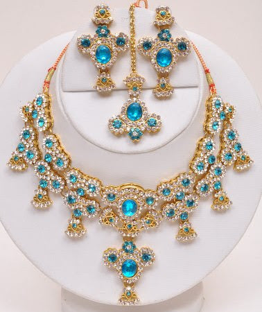 Blue Indian Necklace