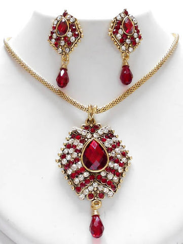 Deep Red Stone Necklace