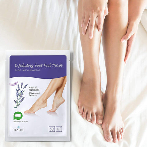 Lavender Exfoliating Foot Mask 2 Pairs Peel Mask Exfoliate for Soft Feet Peeling Off Calluses
