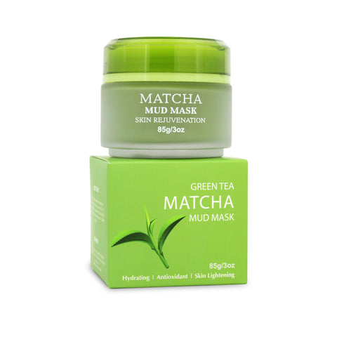 Matcha Facial Mud Mask, Removes Blackheads, Reduces Wrinkles, Antioxidant, Skin Lightening