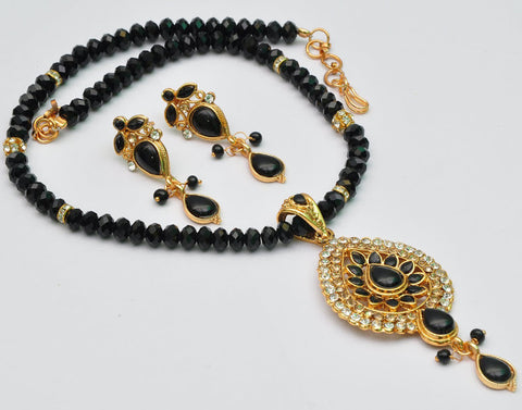 Classy Black Bead Necklace