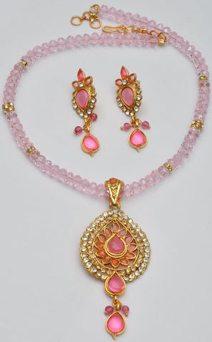 Stylish Pink Necklace Set
