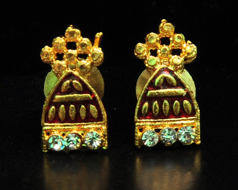 Gold Plated Diamond Stud Earrings