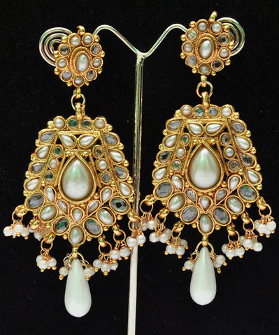 Milk White Jhumki Earrings