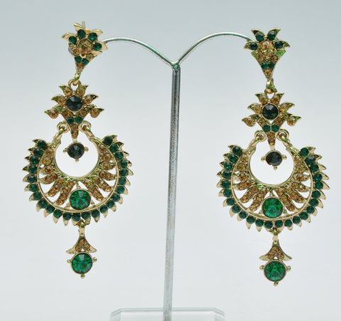 Green Stylish Jhumka Earrings