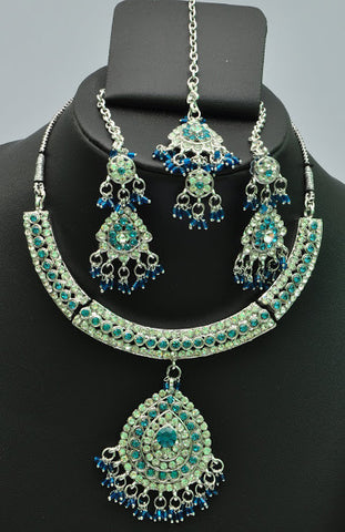 Green Jaded Necklace Set